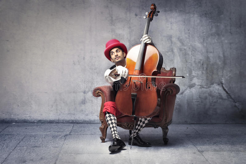 Old-fashioned musician stock photography