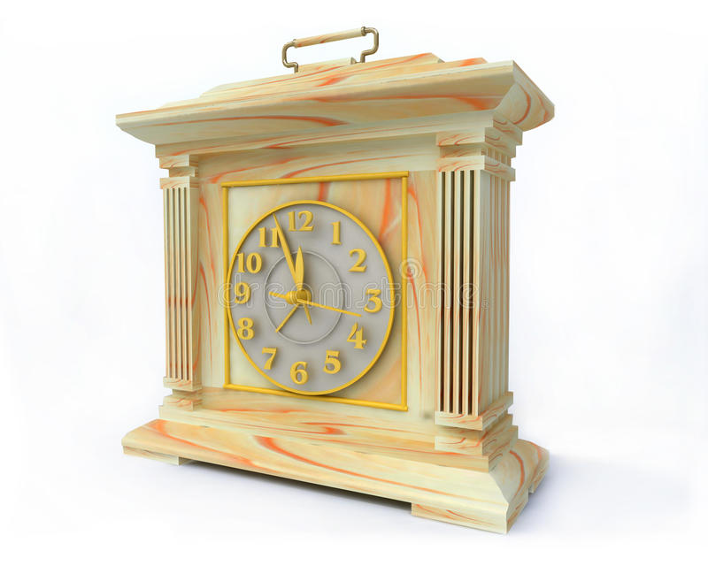 Download OLd-Fashioned Opal Clock stock illustration. Image of gold - 17540385