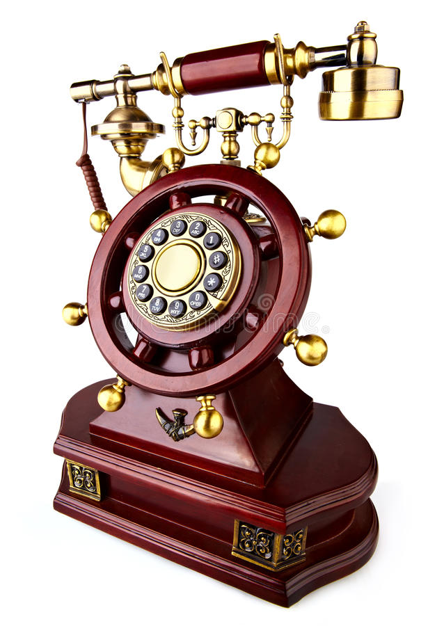 Download Old-fashioned phone stock photo. Image of gold, background - 16438776