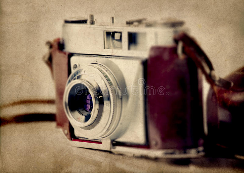 Old fashioned photography camera royalty free stock image