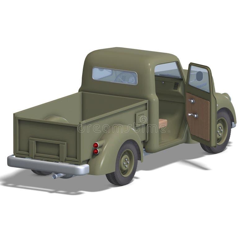 Old fashioned pickup car stock illustration. Illustration of ...