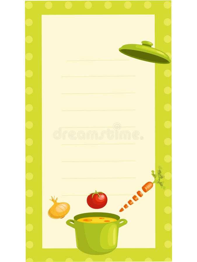 Old Fashioned Recipe Card Stock Photography