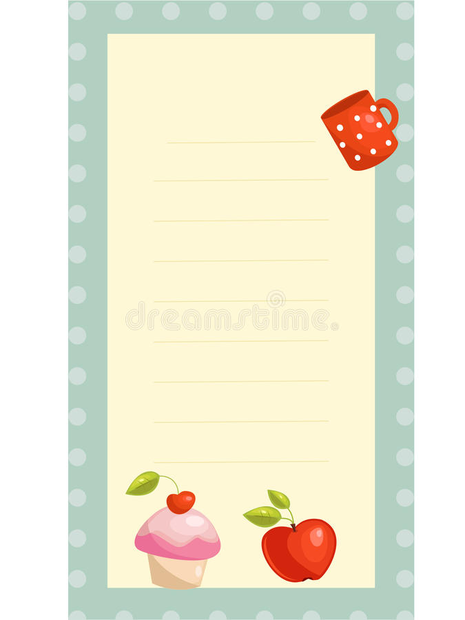 Download Old fashioned recipe card stock vector. Image of creative - 19031249