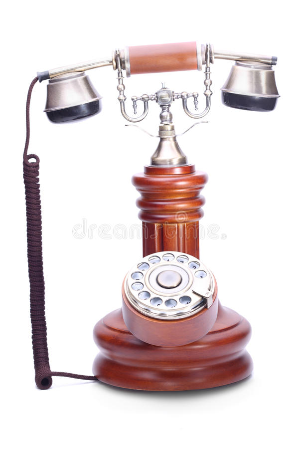 Old fashioned rotary dial phone royalty free stock photography