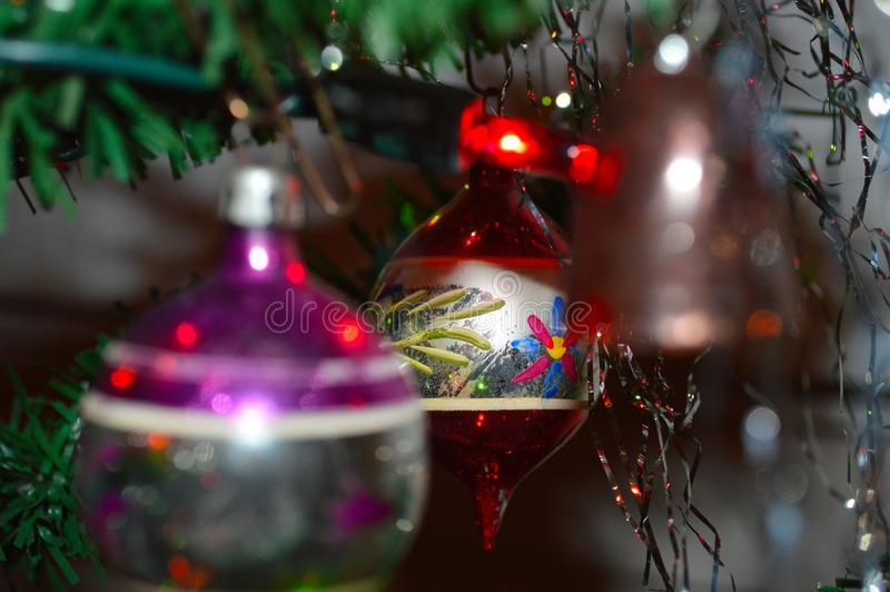 Download Old Fashioned Round Glass Christmas Tree Ornament Stock Photo - Image of colors, cheerful: 103358584