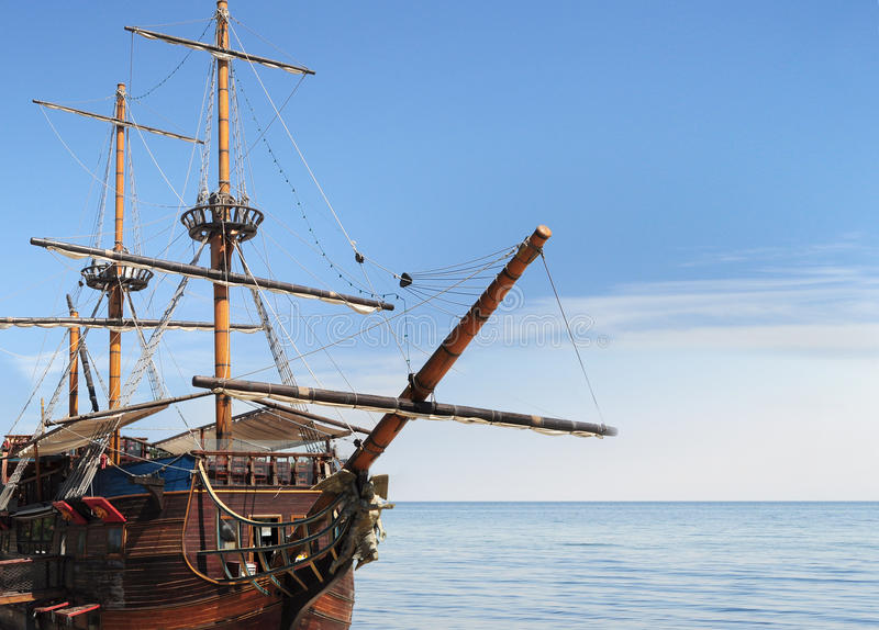 Download Old fashioned ship in sea stock photo. Image of luxury - 21142108