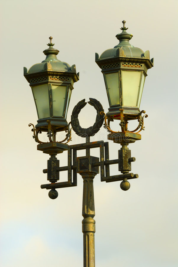 Old fashioned street lamp stock image. Image of fashioned - 1463143