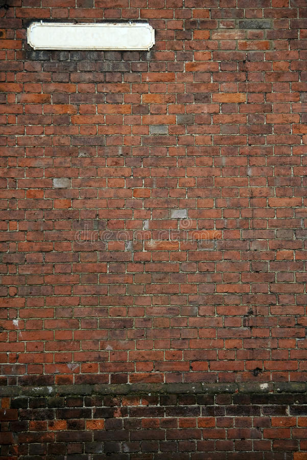 Download Old Fashioned Street Sign Brick Wall Background Stock Photos - Image: 14023373