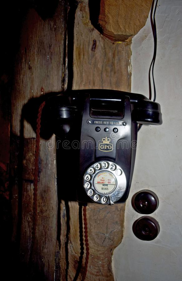 A old fashioned telephone stock photos