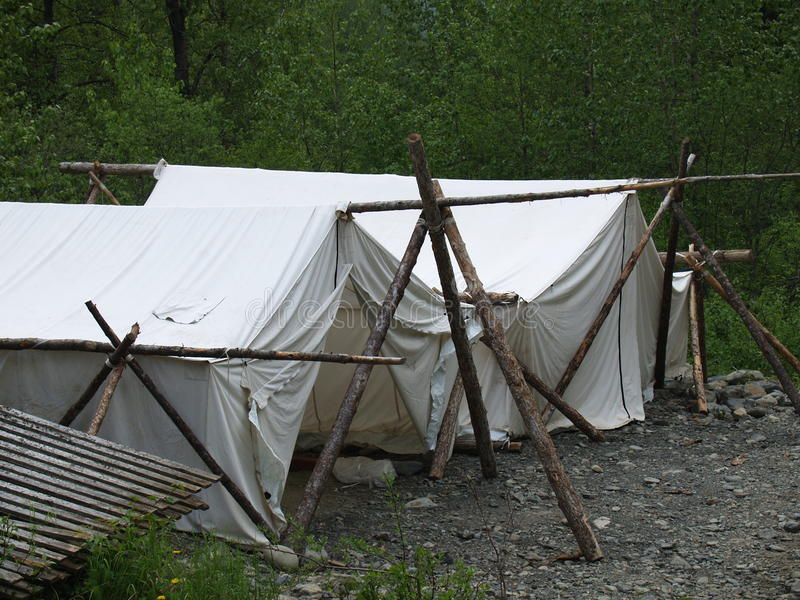 Old-Fashioned Tents royalty free stock photography