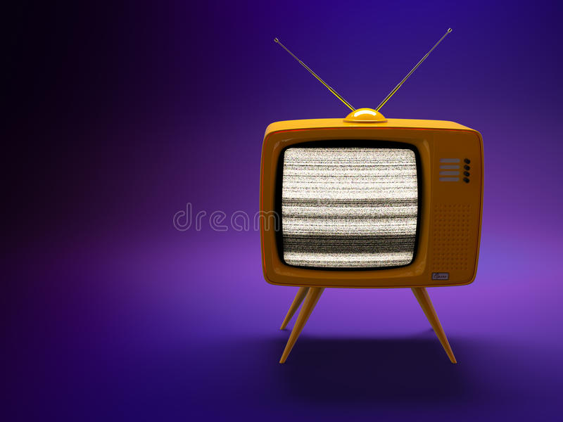 Download Old Fashioned TV Set Royalty Free Stock Images - Image: 15133879