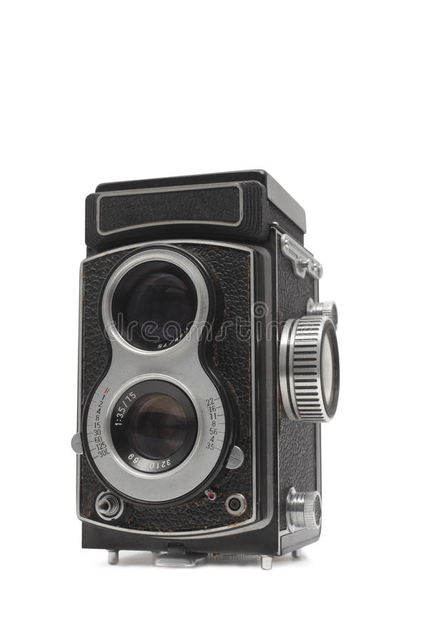 Free Old Fashioned Twin Lens Reflex Camera Royalty Free Stock Photo - 19183805