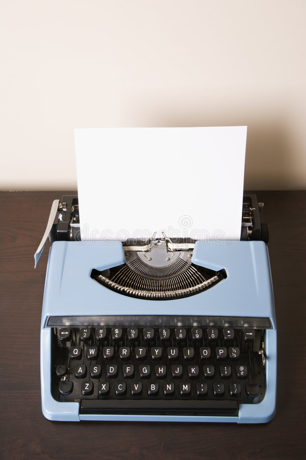 Old fashioned typewriter. stock photos