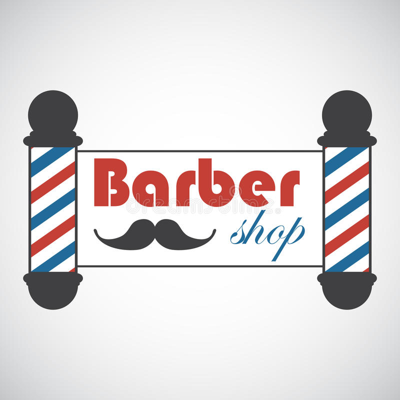 Download Old Fashioned Vintage Barber Shop Poles Stock Vector