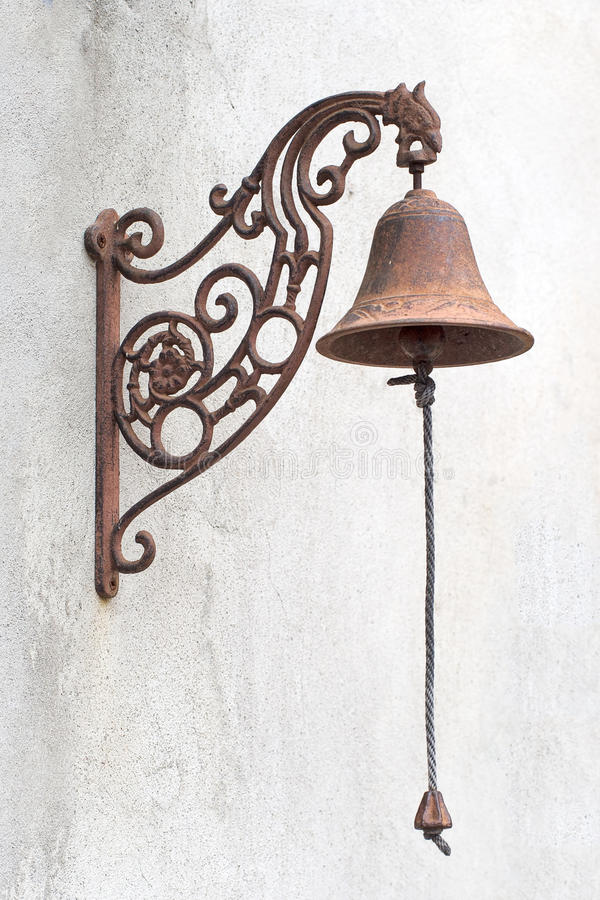 Download Old Fashioned Vintage Doorbell, With Chain. Stock Image   Image Of  Metal,