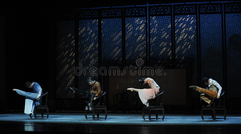 Old-fashioned wooden armchair dance-The second act of dance drama-Shawan events of the past. Guangdong Shawan Town is the hometown of ballet music, the past royalty free stock photos