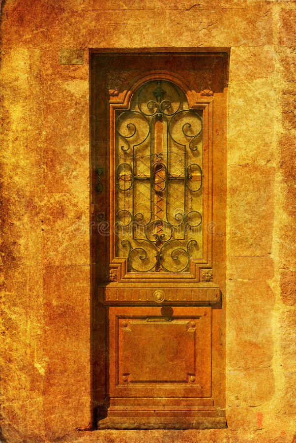 Download Old-fashioned wooden door stock image. Image of grime - 4659475