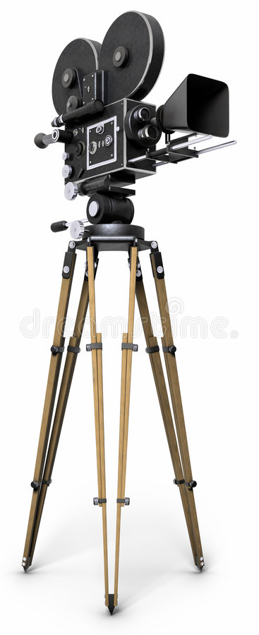 Free Old Fashoned Movie Camera Royalty Free Stock Photography - 7591507