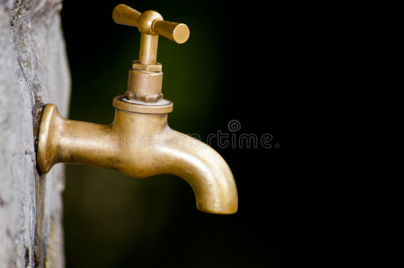 Download A old faucet stock photo. Image of pipe, gold, metal - 25434984