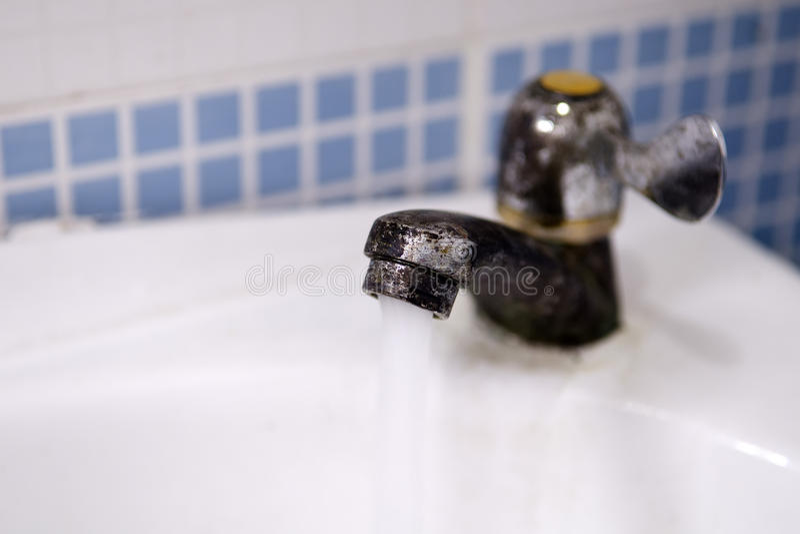 Old faucet stock photos