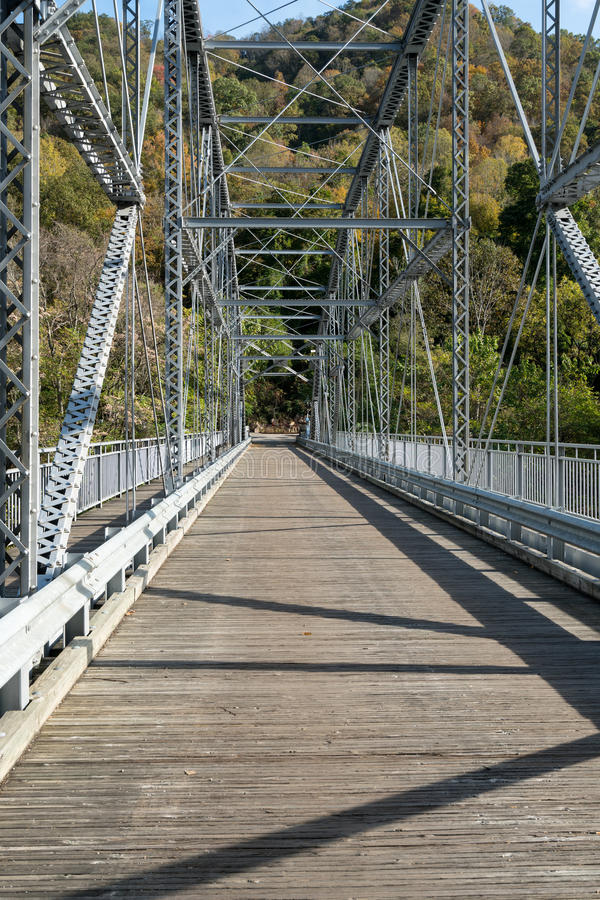 Old Fayette Station bridge in West Virginia. Old Fayette Station bridge across New River Gorge in West Virginia royalty free stock photo
