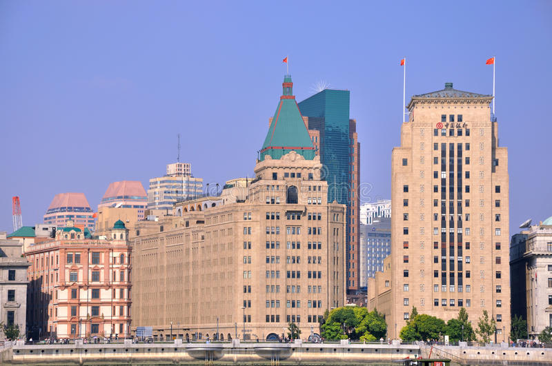 Download Old And Featured Buildings In Shanghai Bund Editorial Photo - Image: 21341496