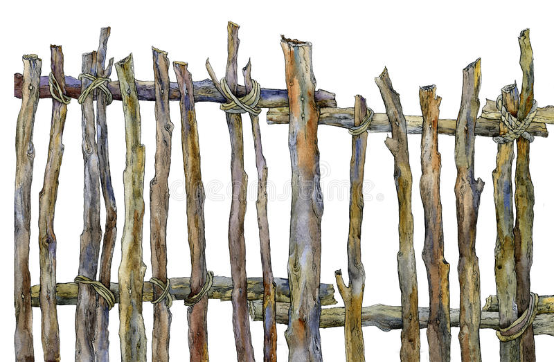 Old fence of the ranch royalty free stock image