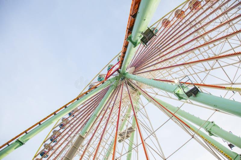 Old ferris wheel stock image