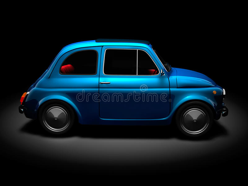 Old Fiat 500 5 stock image