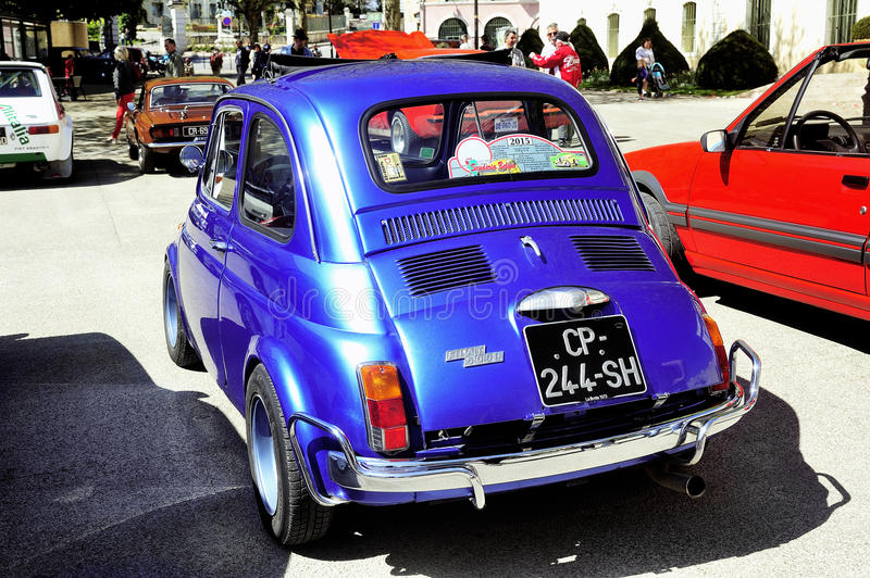 old fiat 500 abarth racing equipped editorial stock image. Black Bedroom Furniture Sets. Home Design Ideas