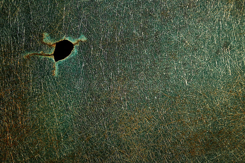 Old fiberglass window. With a crack royalty free stock images