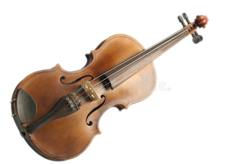 Old fiddle royalty free stock image
