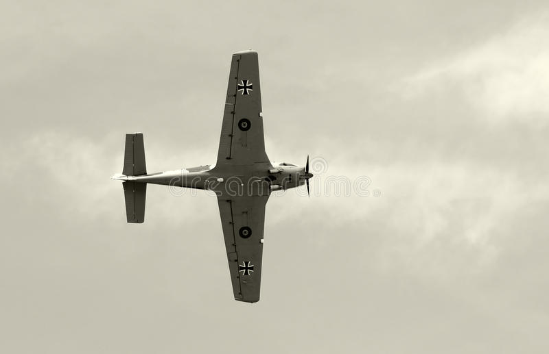 Download Old Fighter Airplane In Black And White Stock Photo - Image: 25468272