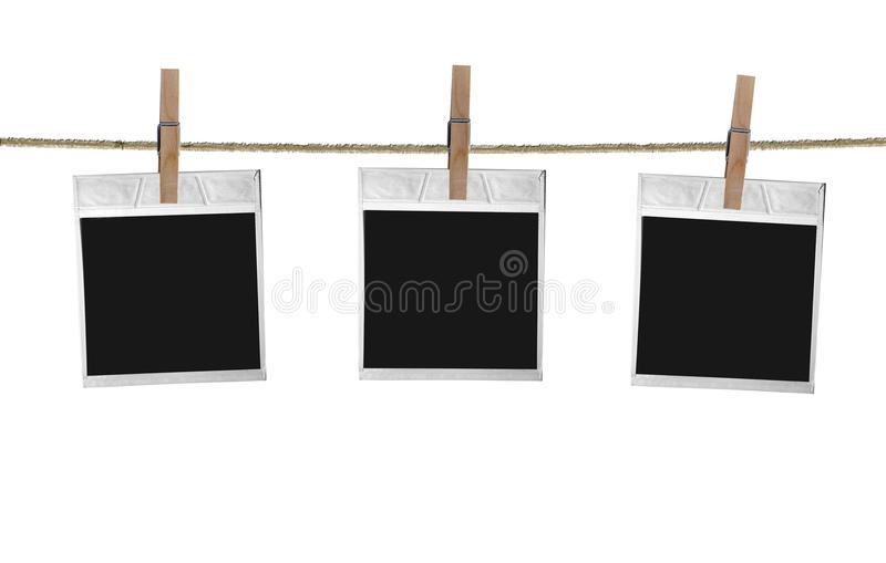 Old Film Blanks. Hanging on a Rope stock illustration