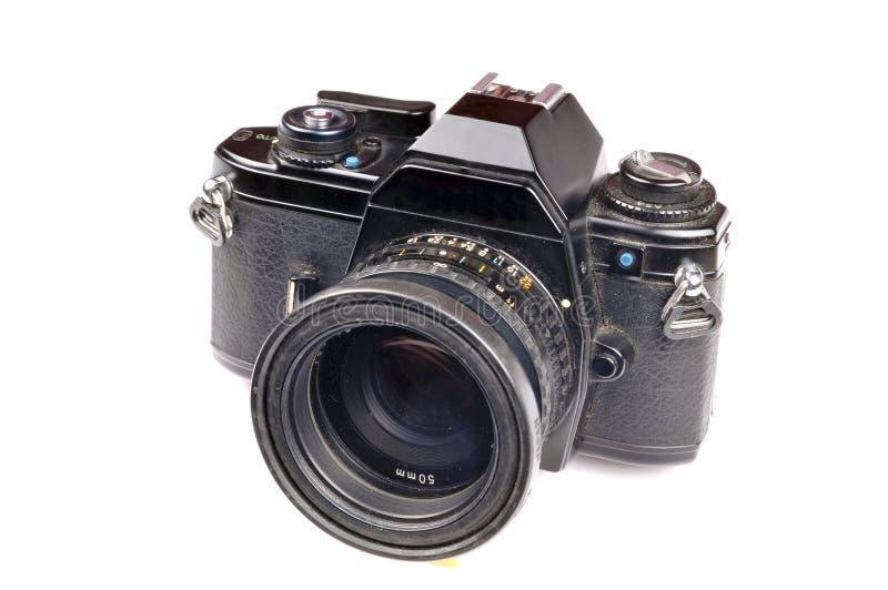Old film camera stock image