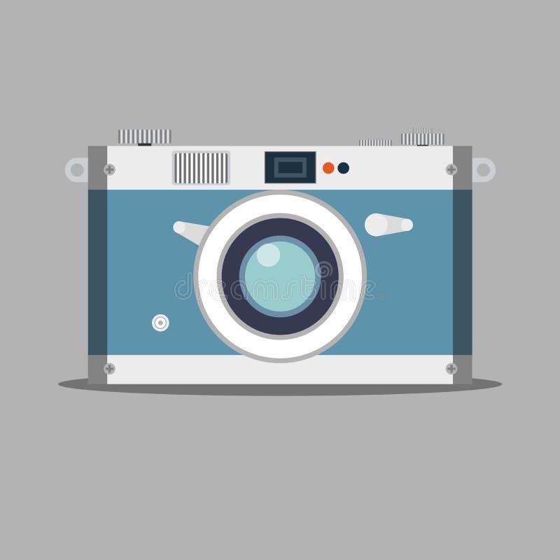Old film camera. Vintage photo. vector illustration