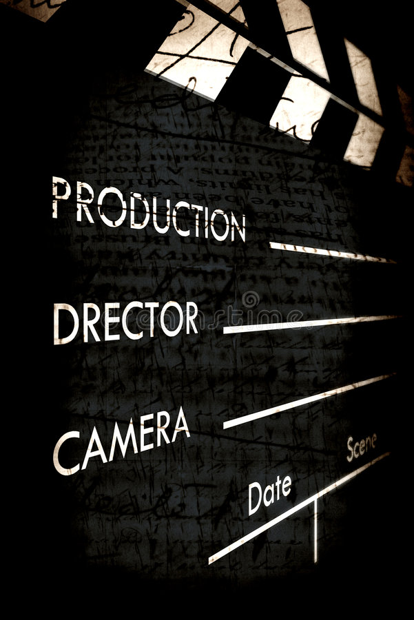 Download Old film Clapboard stock illustration. Image of sound - 8411683