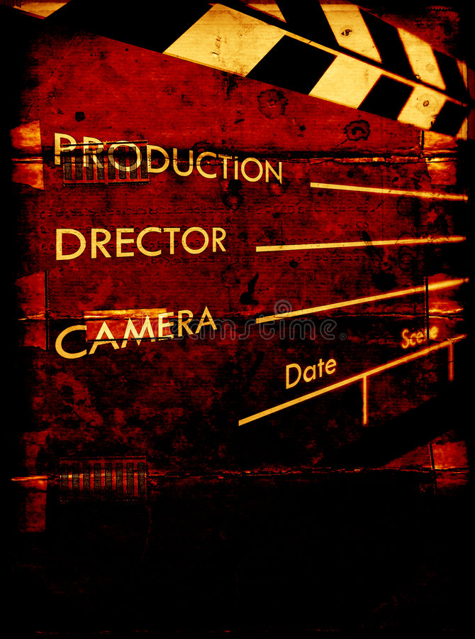 Download Old film Clapboard stock illustration. Image of decoration - 8415208
