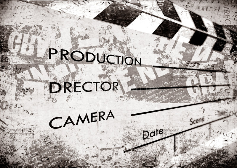 Old Film Clapboard Royalty Free Stock Images