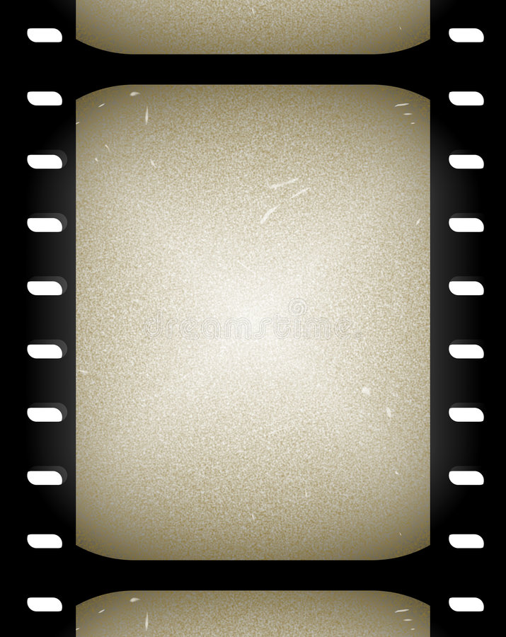 Old film or movie frames stock illustration