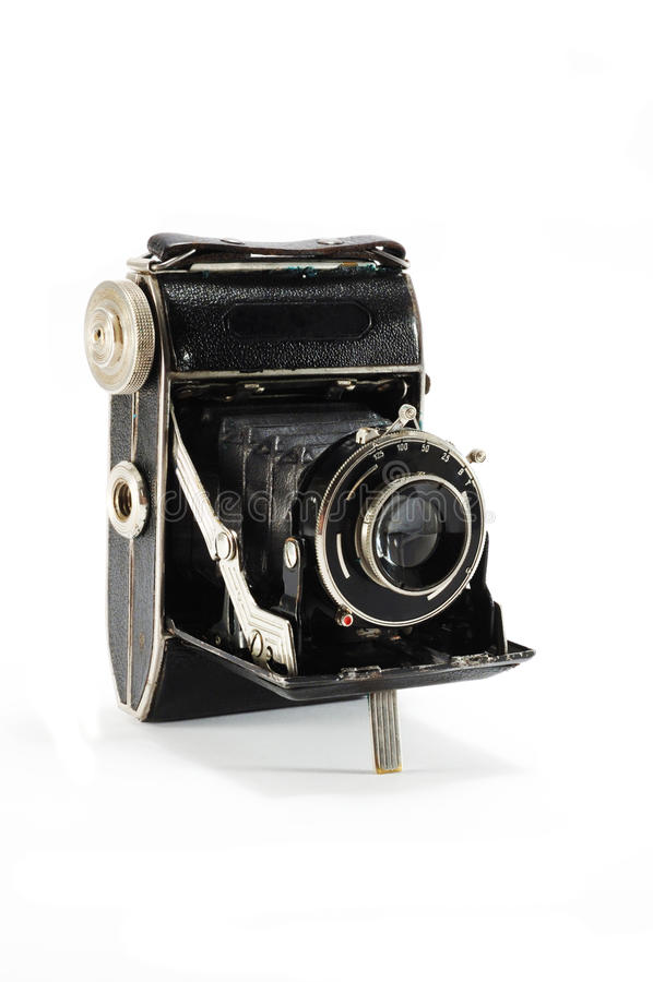 Old Film Photo Camera On White Background Royalty Free Stock Photos