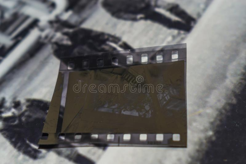 Old film negative royalty free stock photography