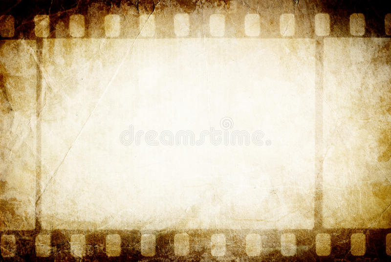 Old filmstrip. Classic vintage background stock photography