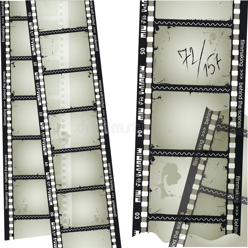 Old filmstrip. 35mm filmstrip. Detailed vector illustration royalty free illustration