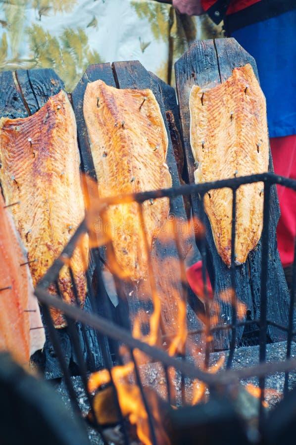 Download Old Finnish Way To Smoke Salmon Stock Image - Image: 27064643