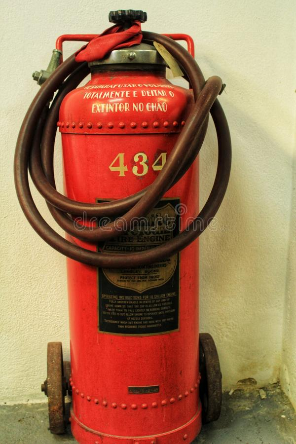 Old fire extinguishing system royalty free stock photography