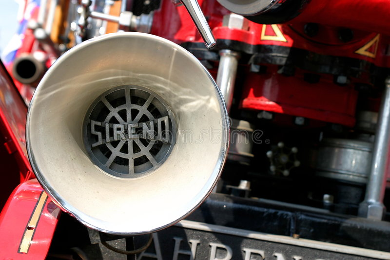 Old Fire Truck. Close up of an old fire truck siren royalty free stock images