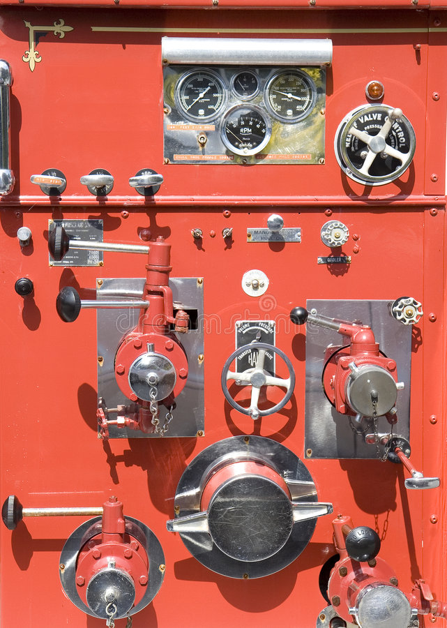 Free Old Fire Truck Controls Stock Photos - 5577683