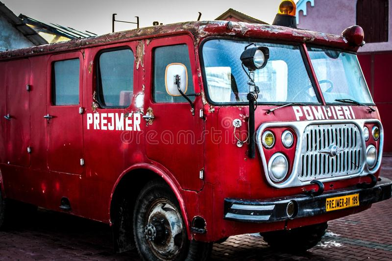 Old fire truck royalty free stock photo