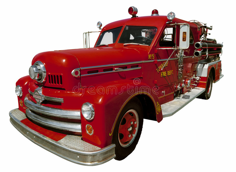 Old Firetruck stock images